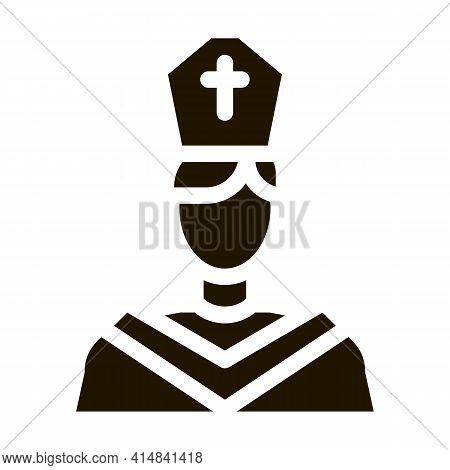 Priest Preacher Glyph Icon Vector. Priest Preacher Sign. Isolated Symbol Illustration