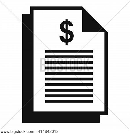 Trader Money Paper Icon. Simple Illustration Of Trader Money Paper Vector Icon For Web Design Isolat