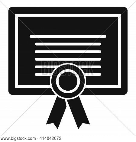 Trader Diploma Icon. Simple Illustration Of Trader Diploma Vector Icon For Web Design Isolated On Wh