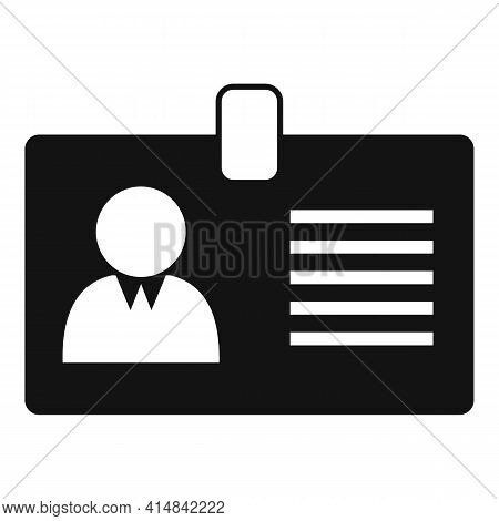 Trader Id Card Icon. Simple Illustration Of Trader Id Card Vector Icon For Web Design Isolated On Wh