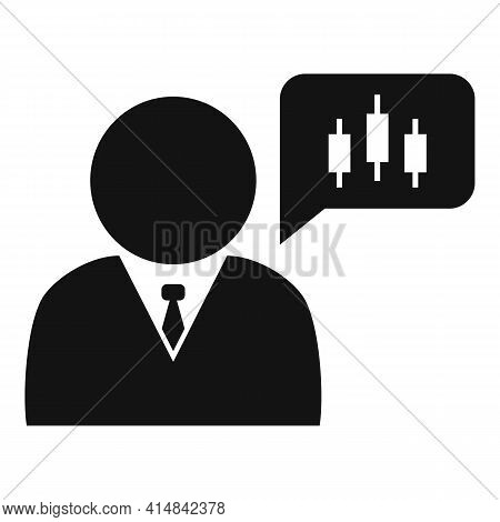 Trader Thinking Icon. Simple Illustration Of Trader Thinking Vector Icon For Web Design Isolated On