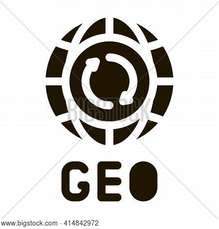 Global Geography Glyph Icon Vector. Global Geography Sign. Isolated Symbol Illustration