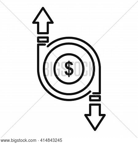Trader Money Exchange Icon. Outline Trader Money Exchange Vector Icon For Web Design Isolated On Whi