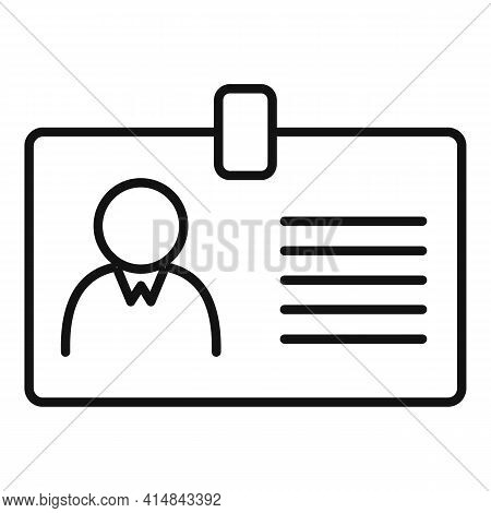 Trader Id Card Icon. Outline Trader Id Card Vector Icon For Web Design Isolated On White Background