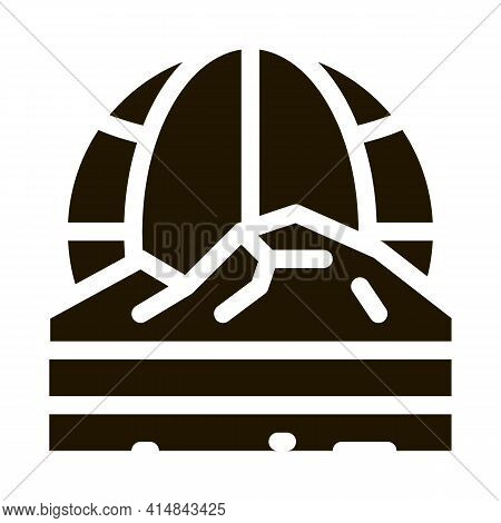 Geomorphology Science Glyph Icon Vector. Geomorphology Science Sign. Isolated Symbol Illustration