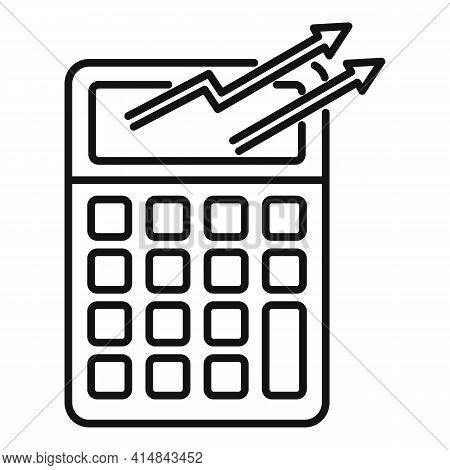 Trader Calculator Icon. Outline Trader Calculator Vector Icon For Web Design Isolated On White Backg