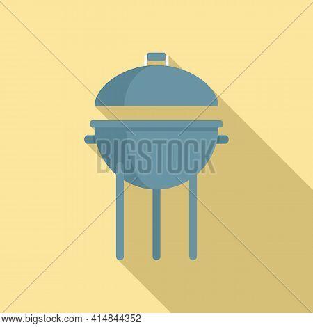 Pork Brazier Icon. Flat Illustration Of Pork Brazier Vector Icon For Web Design