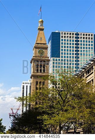 Denver,co - September 11,2019:the Daniels And Fisher Tower Is A Historic Landmark Located In Downtow