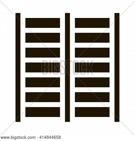Sports Ladder Glyph Icon Vector. Sports Ladder Sign. Isolated Symbol Illustration