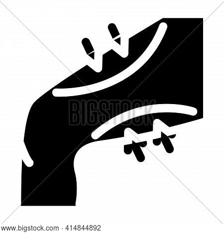 Thigh Liposuction Glyph Icon Vector. Thigh Liposuction Sign. Isolated Symbol Illustration