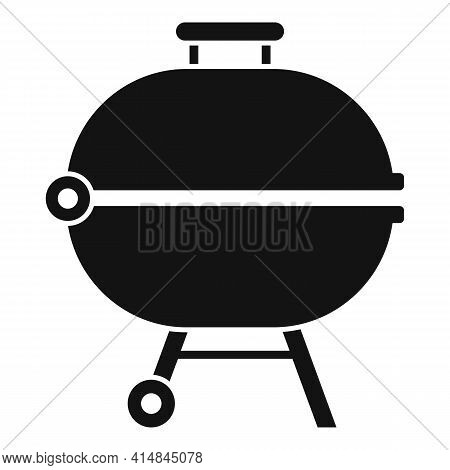Brazier Bbq Icon. Simple Illustration Of Brazier Bbq Vector Icon For Web Design Isolated On White Ba