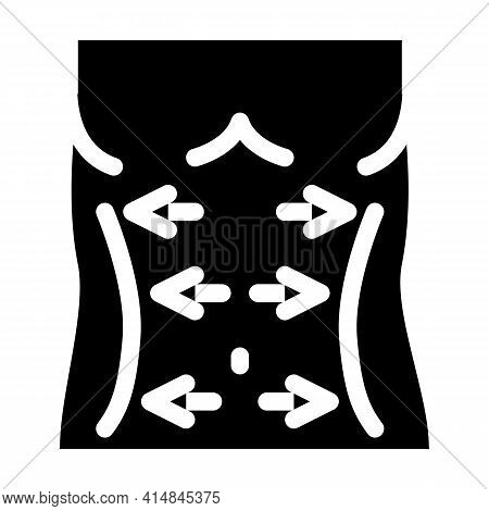 Belly Lifting Glyph Icon Vector. Belly Lifting Sign. Isolated Symbol Illustration