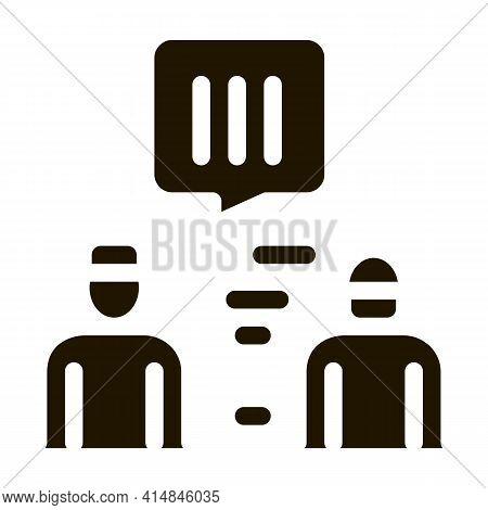Policeman Caught Criminal Glyph Icon Vector. Policeman Caught Criminal Sign. Isolated Symbol Illustr