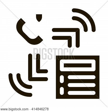 Scan Code Detection Glyph Icon Vector. Scan Code Detection Sign. Isolated Symbol Illustration