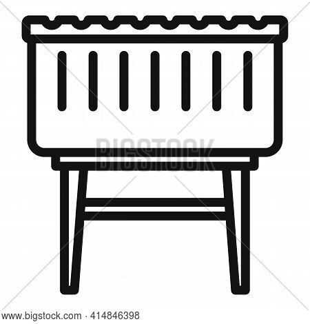 Lounge Brazier Icon. Outline Lounge Brazier Vector Icon For Web Design Isolated On White Background