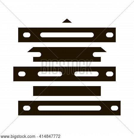 Territory Of House Impassable For People Glyph Icon Vector. Territory Of House Impassable For People