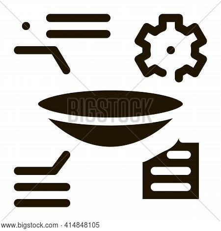 Parsing Lens Research Glyph Icon Vector. Parsing Lens Research Sign. Isolated Symbol Illustration