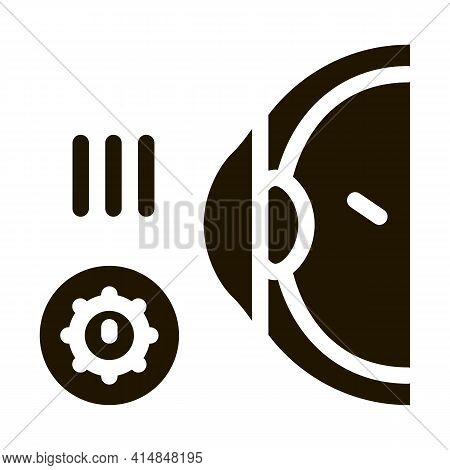 Visual Impairment Glyph Icon Vector. Visual Impairment Sign. Isolated Symbol Illustration