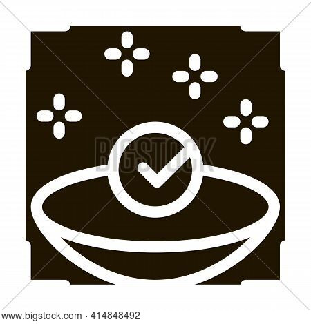 Medically Clean Lens Glyph Icon Vector. Medically Clean Lens Sign. Isolated Symbol Illustration