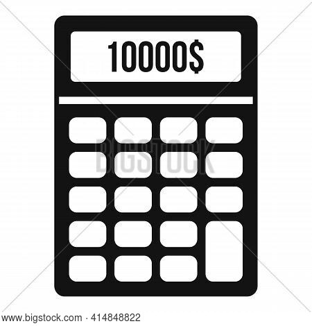 Finance Credit Calculator Icon. Simple Illustration Of Finance Credit Calculator Vector Icon For Web