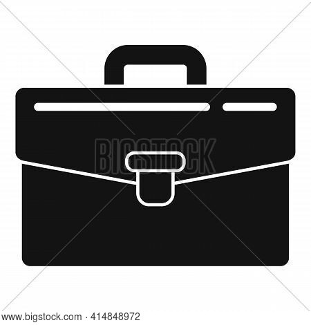 Bank Briefcase Icon. Simple Illustration Of Bank Briefcase Vector Icon For Web Design Isolated On Wh