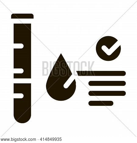 Blood In Vitro Good Results Glyph Icon Vector. Blood In Vitro Good Results Sign. Isolated Symbol Ill
