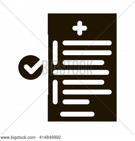 Medical Report Glyph Icon Vector. Medical Report Sign. Isolated Symbol Illustration