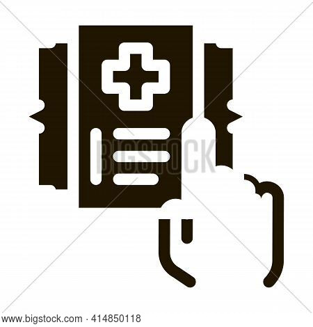 Medical Document Selection Glyph Icon Vector. Medical Document Selection Sign. Isolated Symbol Illus