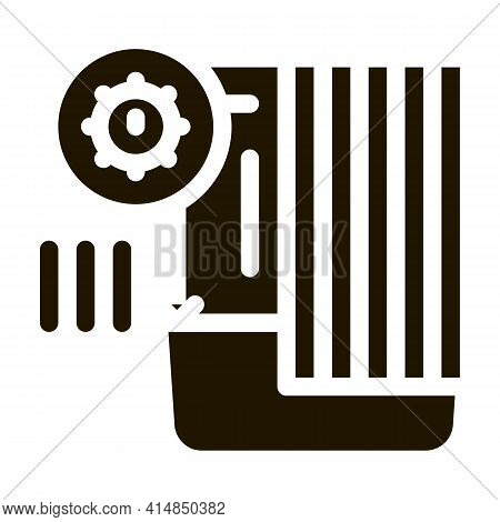 Detection Of Sanitary Problems In Bathroom Glyph Icon Vector. Detection Of Sanitary Problems In Bath