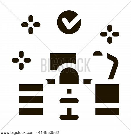 Clean Working Room Glyph Icon Vector. Clean Working Room Sign. Isolated Symbol Illustration