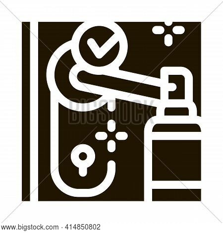 Keyhole Disinfection Glyph Icon Vector. Keyhole Disinfection Sign. Isolated Symbol Illustration
