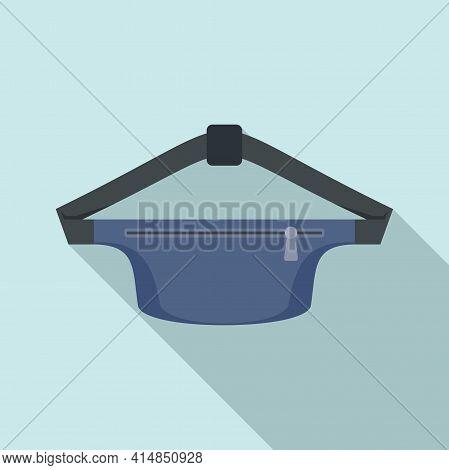 Waist Bag Pack Icon. Flat Illustration Of Waist Bag Pack Vector Icon For Web Design