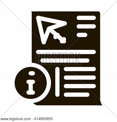 Information Sheet About Kite Glyph Icon Vector. Information Sheet About Kite Sign. Isolated Symbol I