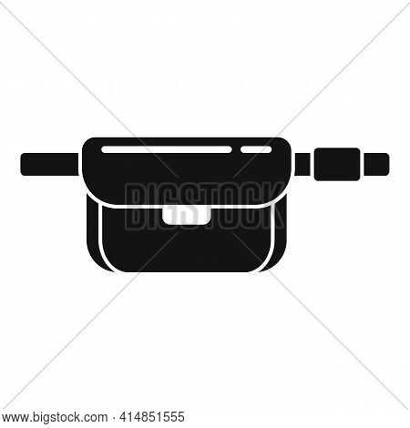 Sport Waist Bag Icon. Simple Illustration Of Sport Waist Bag Vector Icon For Web Design Isolated On