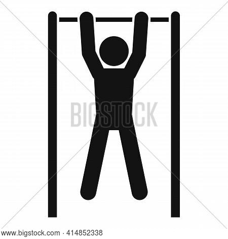 Pull-ups On The Horizontal Bar Icon. Simple Illustration Of Pull-ups On The Horizontal Bar Vector Ic