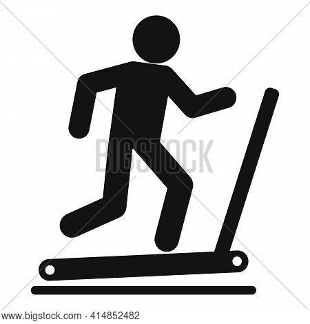Run Treadmill Icon. Simple Illustration Of Run Treadmill Vector Icon For Web Design Isolated On Whit