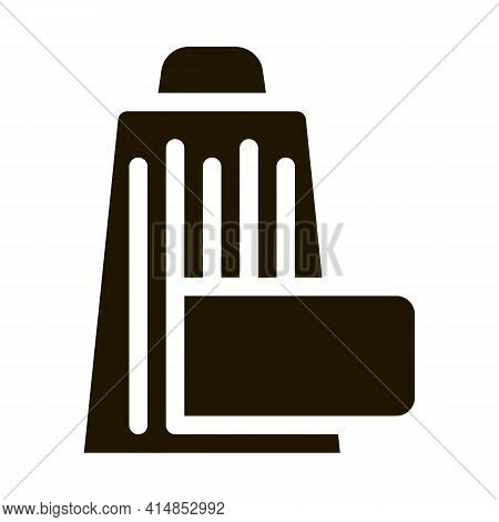 Grate Cheese Glyph Icon Vector. Grate Cheese Sign. Isolated Symbol Illustration