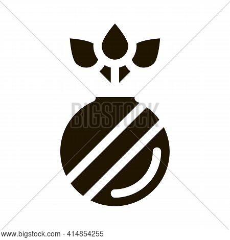 Organic Herbal Pills Glyph Icon Vector. Organic Herbal Pills Sign. Isolated Symbol Illustration