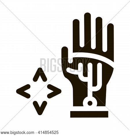 Virtual Glove Technology Glyph Icon Vector. Virtual Glove Technology Sign. Isolated Symbol Illustrat