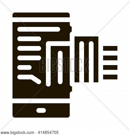 Telephone Mode Of Reality Glyph Icon Vector. Telephone Mode Of Reality Sign. Isolated Symbol Illustr