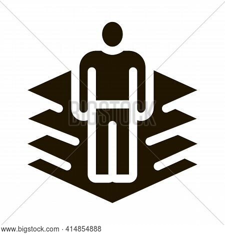 Transfer Of Man Into Virtuality Glyph Icon Vector. Transfer Of Man Into Virtuality Sign. Isolated Sy