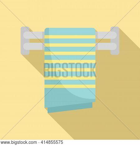 Cloth Heated Towel Rail Icon. Flat Illustration Of Cloth Heated Towel Rail Vector Icon For Web Desig