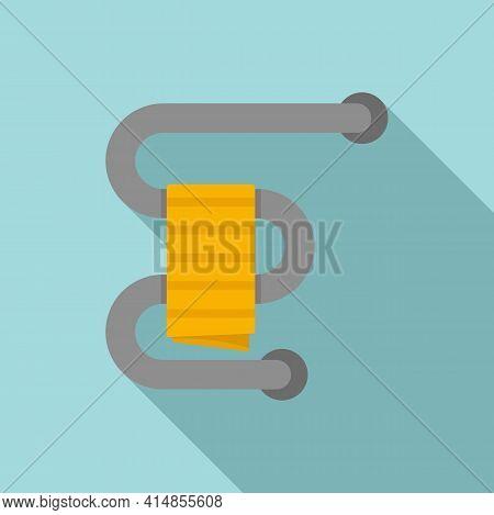 Home Heated Towel Rail Icon. Flat Illustration Of Home Heated Towel Rail Vector Icon For Web Design