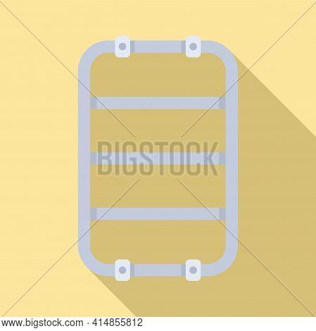 Equipment Heated Towel Rail Icon. Flat Illustration Of Equipment Heated Towel Rail Vector Icon For W