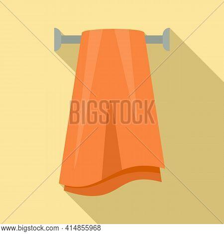 Pile Heated Towel Rail Icon. Flat Illustration Of Pile Heated Towel Rail Vector Icon For Web Design