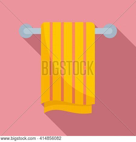 Pipe Heated Towel Rail Icon. Flat Illustration Of Pipe Heated Towel Rail Vector Icon For Web Design