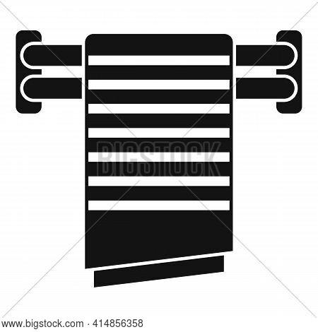 Cloth Heated Towel Rail Icon. Simple Illustration Of Cloth Heated Towel Rail Vector Icon For Web Des