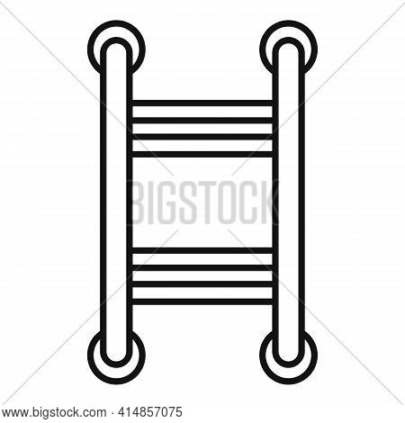 Device Heated Towel Rail Icon. Outline Device Heated Towel Rail Vector Icon For Web Design Isolated