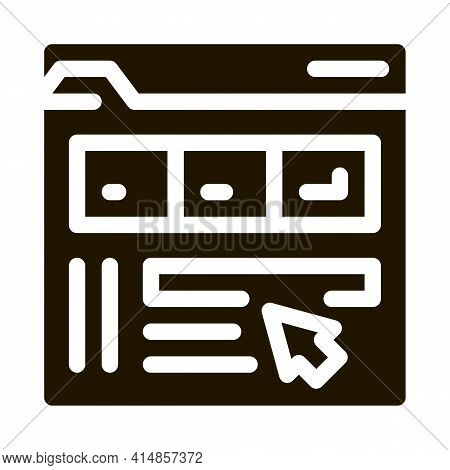 Maker Information Folder Glyph Icon Vector. Maker Information Folder Sign. Isolated Symbol Illustrat