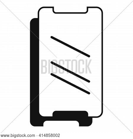 Resistant Phone Glass Icon. Simple Illustration Of Resistant Phone Glass Vector Icon For Web Design